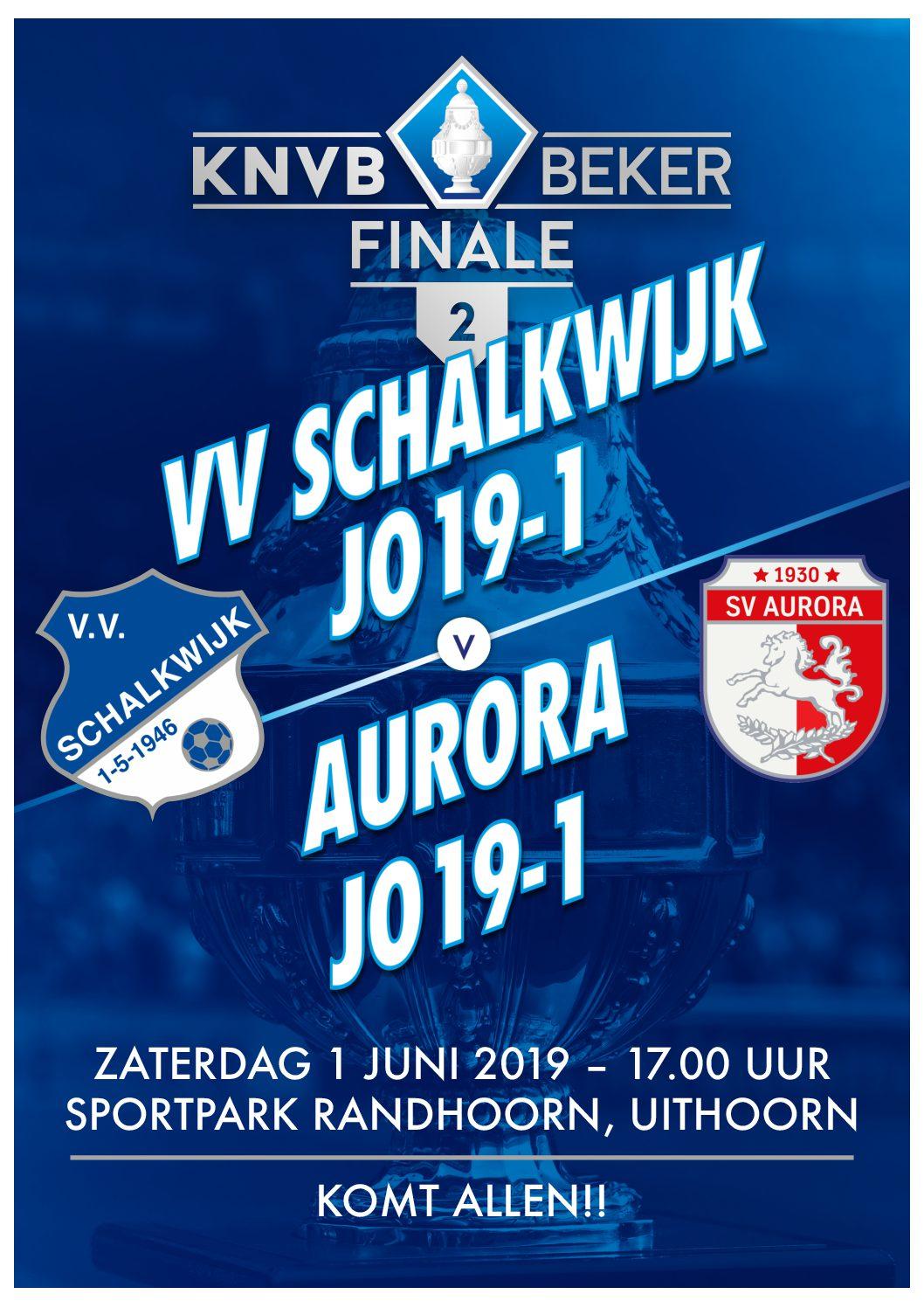 Bekerfinale JO-19 Zaterdag 1 juni